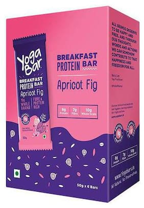 Yoga bar Breakfast Protein Bar - Apricot & Fig 50 g (Pack of 6)