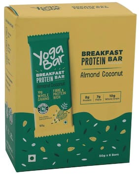 Yoga bar Breakfast Protein Variety Bar - Almond Coconut 50 g (Pack of 6)