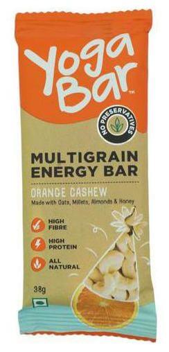 Yoga bar Energy Bars - Multigrain  Cashew Orange Zest 38 g