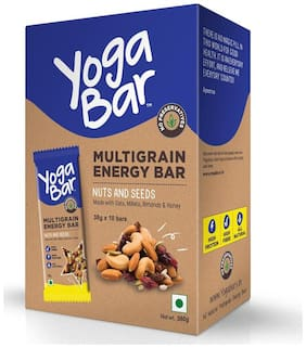 Yoga Bar Multigrain Energy Bar (Nuts And Seeds Pack of 10)