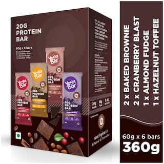 Yoga Bar Protein Variety Box - 6 x 60 g (Box of 6 Bar)