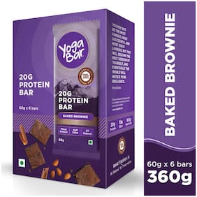 Yoga Bar 20 g Protein Bar Chocolate Brownie (6 x 60 g)