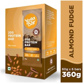 Yoga Bar 20 g Protein Bar - Almond Fudge (6 x 60 g)