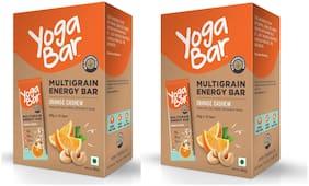Yogabar Multigrain Energy Bars - 380g (Cashew Orange;38g x 10 Bars)(Pack of 2)