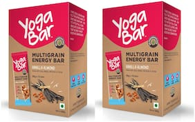 Yogabar Multigrain Energy Bars - 380g (Vanilla Almond;38g x 10 Bars)(Pack of 2)