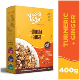 Yogabar Wholegrain Breakfast Muesli+ - Turmeric + Ginger;400g