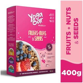 Yogabar Wholegrain Breakfast Muesli - Fruits;Nuts + Seeds- 400g