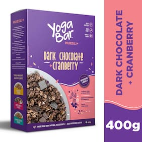Yogabar Wholegrain Breakfast Muesli -Dark Chocolate + Cranberry- 400g