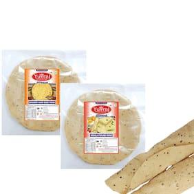 Yuvraj Bikaneri Hand made papad & Masala Punjabi papad Combo (250 g x 2 ) Pack of 2
