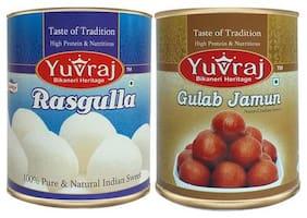 Yuvraj Combo of Rasgulla 1kg & Gulab Jamun 1kg (Pack of 2)