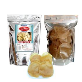 Yuvraj Rice papad (khichiya papad;Frumus ) Go for ready To Fry 400 g x 1 ) Pack of 1