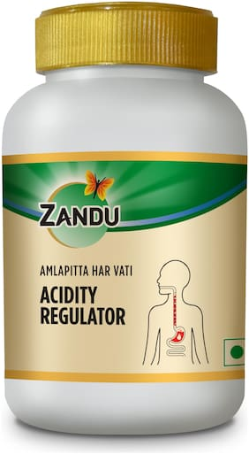 Zandu Amlapitta Har Vati;Tablets for Acidity;Packed with the Natural Extracts of Herbs;For Improving Gut Health and Digestive System   (60 Veg Tablets)