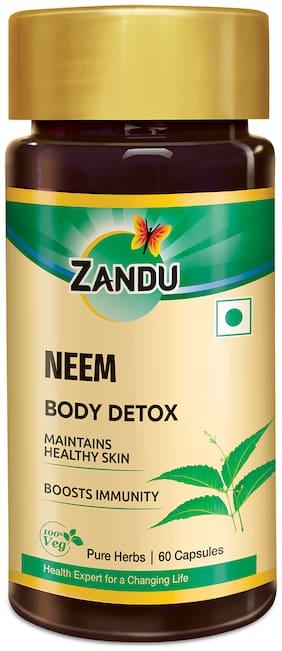 Zandu Neem Capsules: A known Ayurvedic Herb for Healthy Skin and Hair Pack of 1 (60 Capsules)