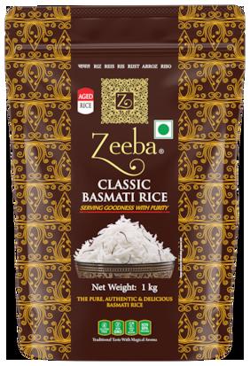 Zeeba Classic Aged Basmati Rice (Extra Long Grain) 1 kg (Pack of 1)
