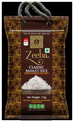 Zeeba Classic Aged Basmati Rice (Extra Long Grain) 5 kg (Pack of 1)