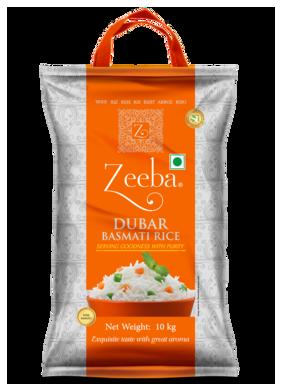 Zeeba Dubar Basmati Rice 10 kg (Pack of 1)
