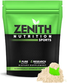 Zenith Nutrition Whey Protein with Enzymes for Digestion | 26g protein | Natural Sweetener 1050g (French Vanilla) (Pack of 1)