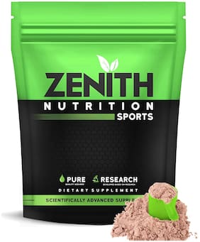 Zenith Nutrition Whey Protein with Enzymes for Digestion | 26g protein | 1050 (Double Rich Chocolate) (Pack of 1)