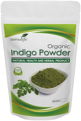 Zenulife Best Quality Indigo Powder - Natural Hair Color (100 g)