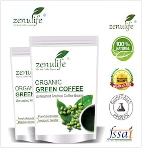Zenulife Green coffee beans 200 g Pack of 2