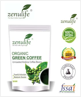 Zenulife Green coffee beans 200 g Pack of 1