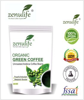 Zenulife Green coffee beans 250 g Pack of 1