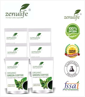 Zenulife Green coffee beans 100 g Pack of 6