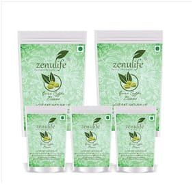 Zenulife Green coffee beans 500 g Pack of 5