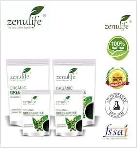 Zenulife Green coffee beans 800 g Pack of 4