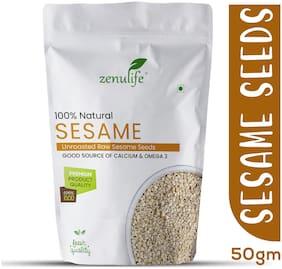 Zenulife Premium and Popular Natural White Sesame Seeds - 1Kg
