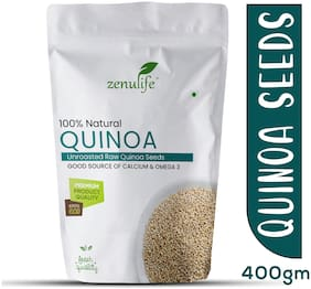 Zenulife Raw Unroasted White Quinoa Seeds 400g