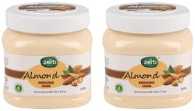 Zerb Almond Nourishing Cream Enriched With Aloe Vera And Natural Extracts - Pack Of 2 - 500 gm each