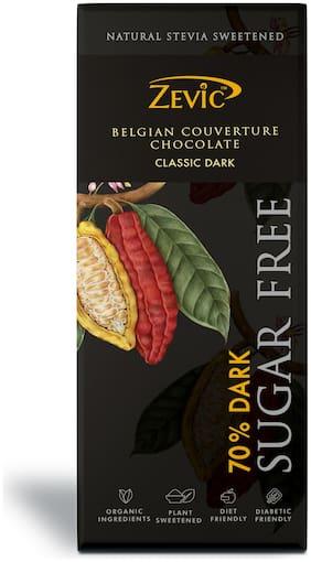 Zevic 70% Dark Belgian Chocolate with Stevia 40 g