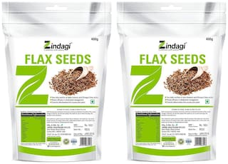 Zindagi Flax Seeds - Roasted Flax Seeds For Weight Reduce - Natural Seeds For Weight Loss (Pack Of 2)
