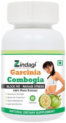 Zindagi Garcinia Combogia Capsules - Weight Management Supplement - Pure Garcinia Combogia Extract Capsules 60 Capsules