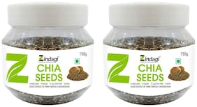 Zindagi Omega-3 Chia Seeds - Chia Seeds For Weight Loss - Chia Seeds For Eating 150 gm