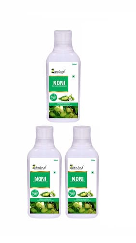 Zindagi Pure Noni Juice - Herbla Noni Fruit Juice - Sugarfree Health Drink (Pack Of 3)