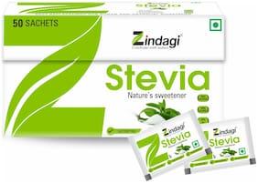 Zindagi Stevia Sachets - Natural Stevia Leaves Extract - Sugarfree Stevia Powder 50g