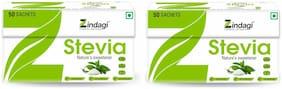 Zindagi Stevia Powder Sachets - 100% Stevia Leaves Powder - Natural Weight Loss Product (Pack Of 2)