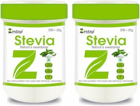 Zindagi Stevia Powder - Natural Stevia White Powder - Sugarfree Stevia Leaves Extract (Pack Of 2)