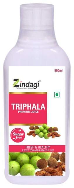 Zindagi Triphala Juice - Herbal Juice For Healthy Life - Natural Health Drink 500ml