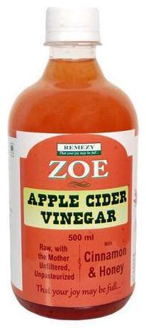 Zoe Apple Cider Vinegar - Raw Unfiltered Unpasteurized with Cinamon & Honey 500 ml