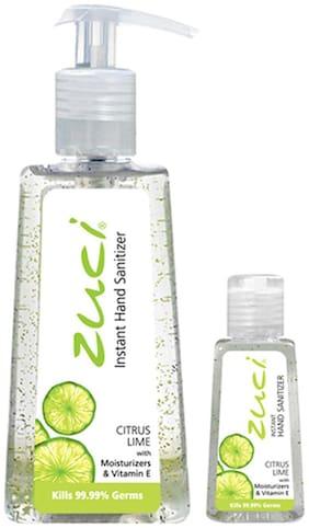 ZUCI Pack of 250 ml & 30 ml Hand Sanitizer - Citrus Lime