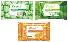 Zuci Wet Wipes-Pack Of 3 (Aloeveera Citrus Cucumber)