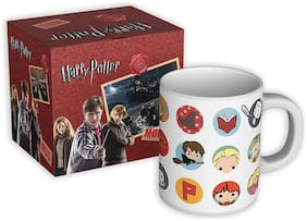 Mc Sid Razz Harry Potter Chibi Coffee Mug Circular Design Collectible Coffee Cups | Birthday Gifts |,Gift Set Christmas Gift/Birthday Gift Officially Licensed by Warner Bros, USA
