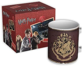 MC SID RAZZ Harry Potter Coffee Mug of Hogwarts House Crest 1 | Official Merchandise and Cups Licensed by Warner Bros, USA | Gift Mugs for Birthday