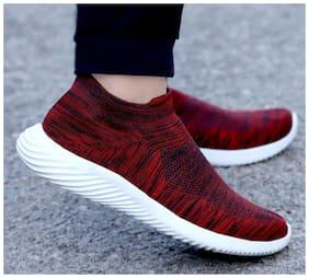 02HERO Men Running Shoes ( Maroon )