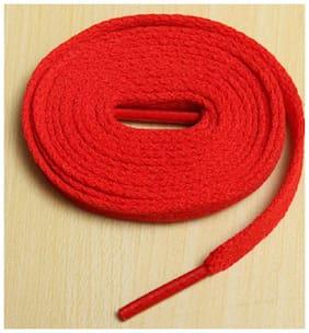 1 Pair Athletic 145cm Shoe laces Sport Sneaker Boots Shoe Strings ( Red ) Color