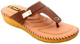 1 Walk Women Brown Slippers & Flip flops