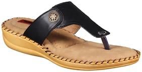 1 WALK COMFORTABLE DR SOLE WOMEN_FLATS/SANDALS/FANCY WEAR/PARTY WEAR/ORIGINAL/SLIPPERS/CASUAL FOOTWEAR_BLACK